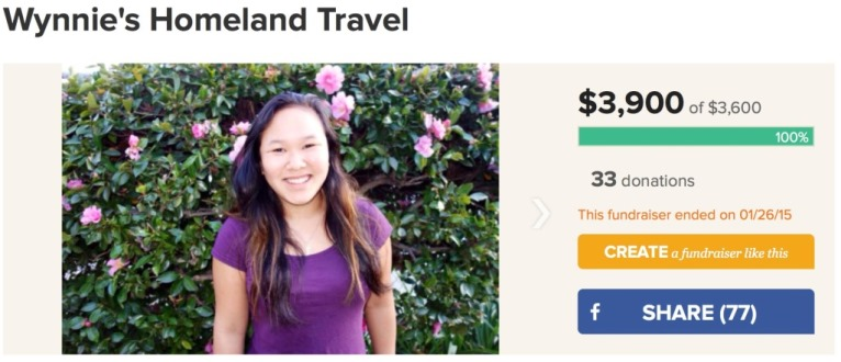 Adoption Travel Crowd Funding